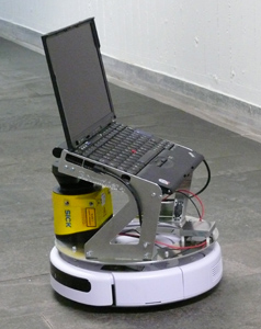 Roomba-Robot with laser scanner and PC